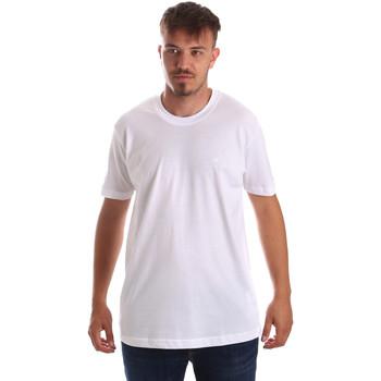textil Herre T-shirts m. korte ærmer Key Up 2M915 0001 hvid