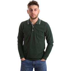 textil Herre Polo-t-shirts m. lange ærmer Key Up 2L711 0001 Grøn