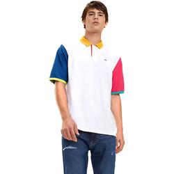 textil Herre Polo-t-shirts m. korte ærmer Tommy Hilfiger DM0DM06024 hvid
