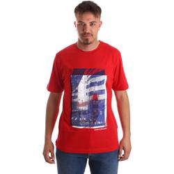 textil Herre T-shirts m. korte ærmer Calvin Klein Jeans J30J312285 Rød