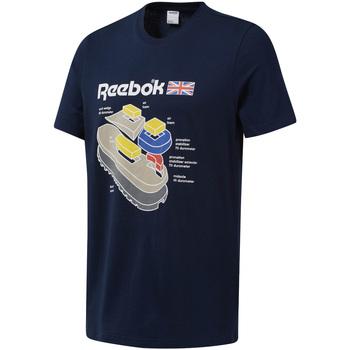 textil Herre T-shirts m. korte ærmer Reebok Sport DT9445 Blå