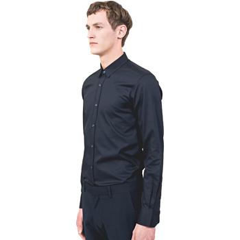 textil Herre Skjorter m. lange ærmer Antony Morato MMSL00525 FA440012 Blå