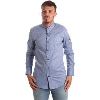 textil Herre Skjorter m. lange ærmer Antony Morato MMSL00526 FA430086 Blå