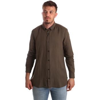 textil Herre Skjorter m. lange ærmer Antony Morato MMSL00530 FA400051 Brun