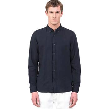 textil Herre Skjorter m. lange ærmer Antony Morato MMSL00530 FA400051 Blå