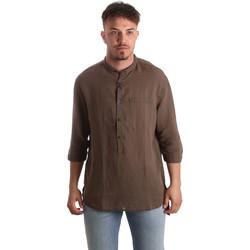 textil Herre Skjorter m. lange ærmer Antony Morato MMSL00531 FA400051 Brun