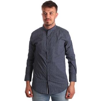 textil Herre Skjorter m. lange ærmer Antony Morato MMSL00532 FA430370 Blå