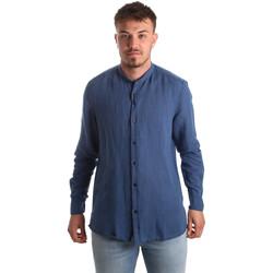 textil Herre Skjorter m. lange ærmer Antony Morato MMSL00547 FA400051 Blå