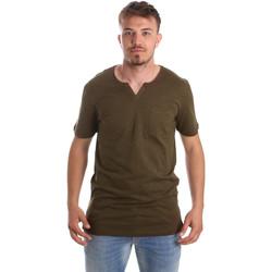 textil Herre T-shirts m. korte ærmer Antony Morato MMKS01487 FA100139 Grøn