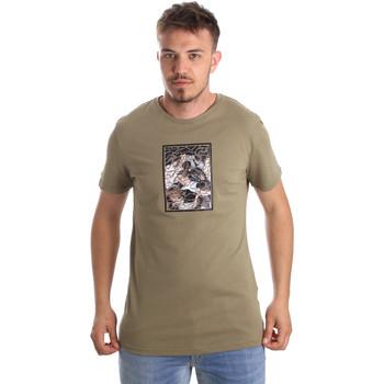 textil Herre T-shirts m. korte ærmer Antony Morato MMKS01551 FA100144 Grøn