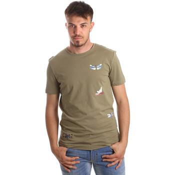 textil Herre T-shirts m. korte ærmer Antony Morato MMKS01515 FA100144 Grøn