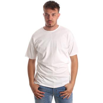 textil Herre T-shirts m. korte ærmer Antony Morato MMKS01564 FA100189 hvid