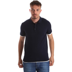 textil Herre Polo-t-shirts m. korte ærmer Gaudi 911FU53006 Blå