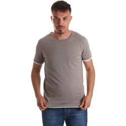 textil Herre T-shirts m. korte ærmer Gaudi 911FU53007 Grå