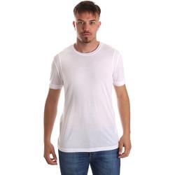 textil Herre T-shirts m. korte ærmer Gaudi 911FU64005 hvid