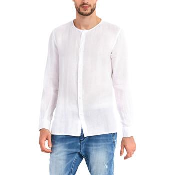 textil Herre Skjorter m. lange ærmer Gaudi 911BU45002 hvid