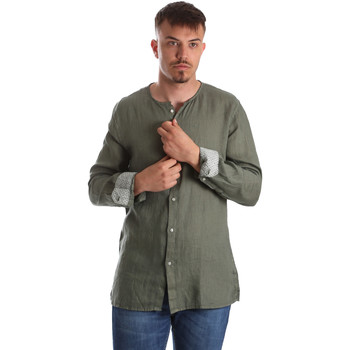 textil Herre Skjorter m. lange ærmer Gaudi 911BU45002 Grøn