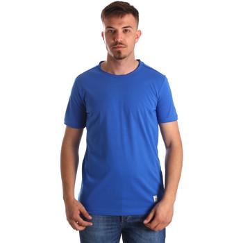 textil Herre T-shirts m. korte ærmer Gaudi 911BU64023 Blå