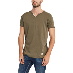 textil Herre T-shirts m. korte ærmer Gaudi 911BU64024 Grøn