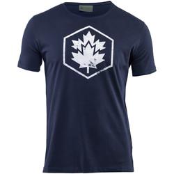 textil Herre T-shirts m. korte ærmer Lumberjack CM60343 002 509 Blå