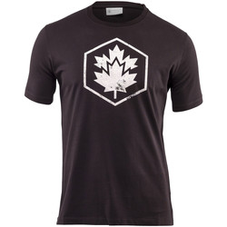 textil Herre T-shirts m. korte ærmer Lumberjack CM60343 001 509 Sort