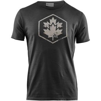 textil Herre T-shirts m. korte ærmer Lumberjack CM60343 002 509 Sort