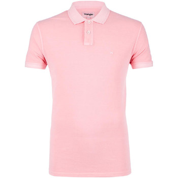 textil Herre Polo-t-shirts m. korte ærmer Wrangler W7C15K Lyserød