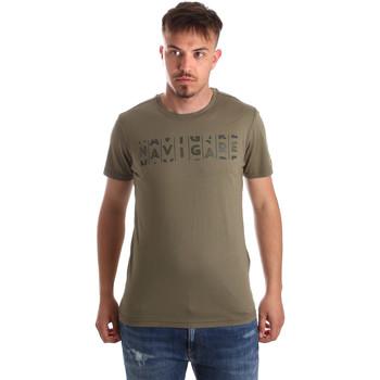 textil Herre T-shirts m. korte ærmer Navigare NV31081 Grøn