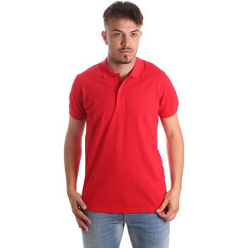 textil Herre Polo-t-shirts m. korte ærmer Navigare NV82001 Rød
