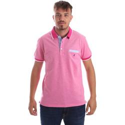 textil Herre Polo-t-shirts m. korte ærmer Navigare NV82092 Lyserød