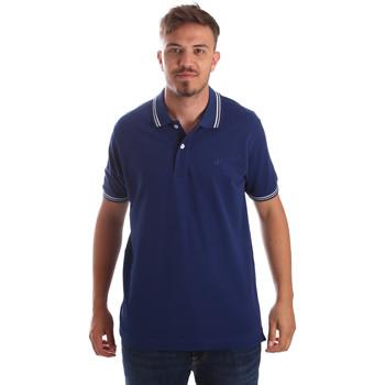 textil Herre Polo-t-shirts m. korte ærmer Key Up 2Q70G 0001 Blå
