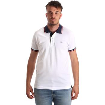 textil Herre Polo-t-shirts m. korte ærmer Key Up 2Q62G 0001 hvid