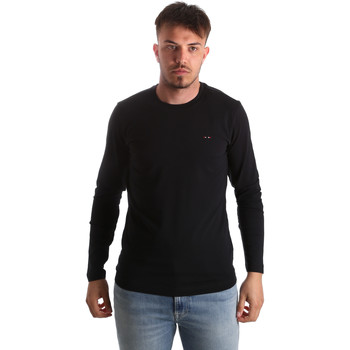 textil Herre Langærmede T-shirts Key Up 2E96B 0001 Sort
