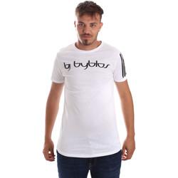 textil Herre T-shirts m. korte ærmer Byblos Blu 2MT0016 TE0046 hvid