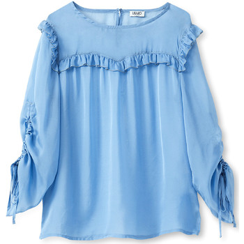 textil Dame Toppe / Bluser Liu Jo W19292T5339 Blå