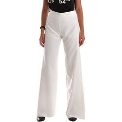 textil Dame Løstsiddende bukser / Haremsbukser Fracomina FR19SP637 hvid