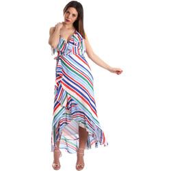 textil Dame Lange kjoler Fracomina FR19SP594 hvid