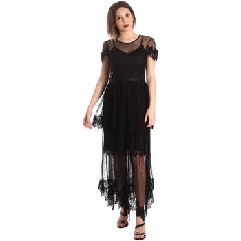 textil Dame Lange kjoler Fracomina FR19SP364 Sort