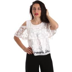 textil Dame Toppe / Bluser Fracomina FR19SP605 hvid