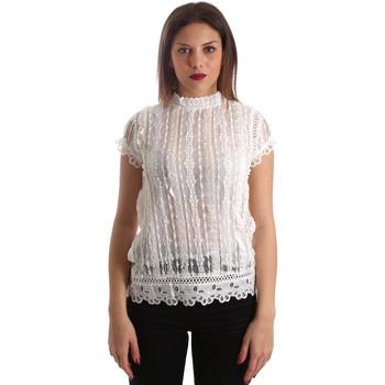 textil Dame Toppe / Bluser Fracomina FR19SP521 hvid