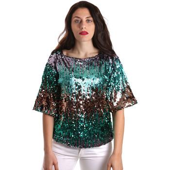 textil Dame Toppe / Bluser Fracomina FR19SP525 Grøn