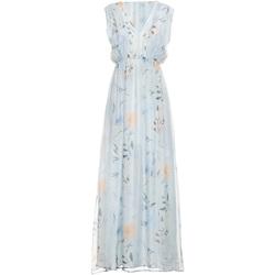 textil Dame Lange kjoler Fracomina FR19SMCARLINDA Blå