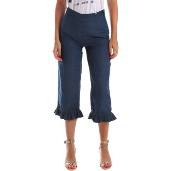 textil Dame Jeans - 3/4 & 7/8 Fracomina FR19SM502 Blå