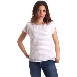 textil Dame Toppe / Bluser Nero Giardini P962470D hvid