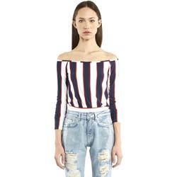 textil Dame Langærmede T-shirts Denny Rose 911DD60016 Blå