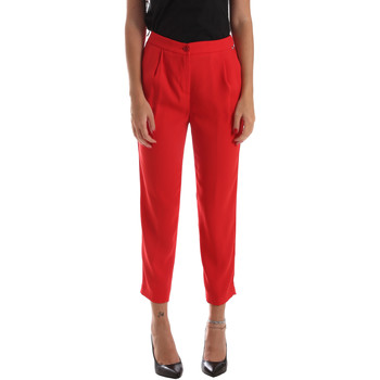 textil Dame Chinos / Gulerodsbukser Byblos Blu 2WP0002 TE0012 Rød