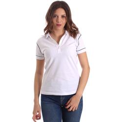 textil Dame Polo-t-shirts m. korte ærmer La Martina NWP002 PK001 hvid