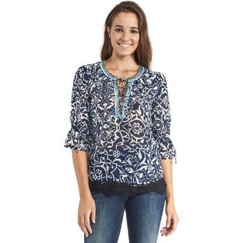 textil Dame Toppe / Bluser Gaudi 911BD45013 Blå