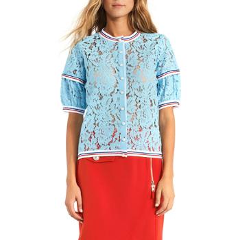 textil Dame Toppe / Bluser Gaudi 911BD55001 Blå