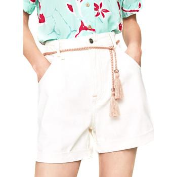 textil Dame Shorts Pepe jeans PL800852 hvid